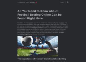 footballstatmanager.com