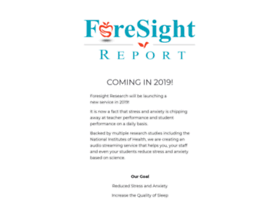 foresightreport.org