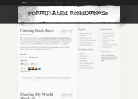 formulatedrandomness.wordpress.com