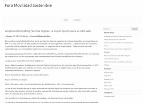 foromovilidadsostenible.org