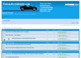 forum.autoupkeep.com