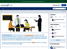forum.benchmarksixsigma.com