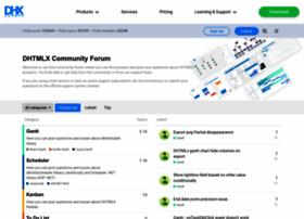 forum.dhtmlx.com