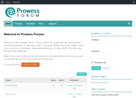 forum.prowess.org.uk
