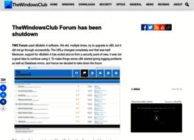 forum.thewindowsclub.com
