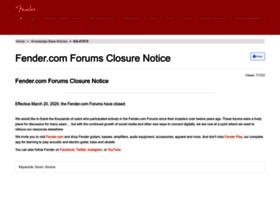 forums.fender.com