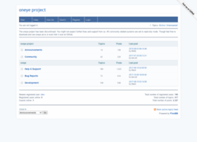forums.oneye-project.org