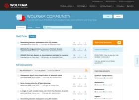 forums.wolfram.com