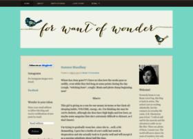 forwantofwonder.wordpress.com