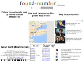 found-number.com
