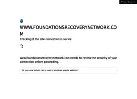 foundationsrecoverynetwork.com