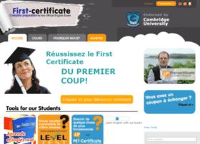 fr.first-certificate.com