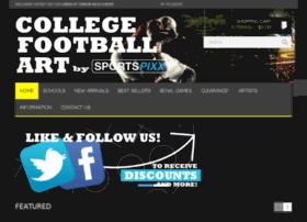 framedcollegefootballart.com