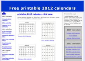free-2012-calendar.com