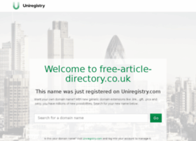 free-article-directory.co.uk