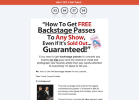 freebackstagepass.com