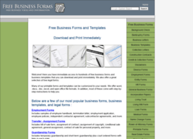 freebusinessforms.com