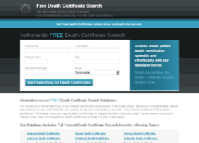 freedeathcertificate.org