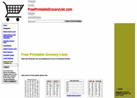 freeprintablegrocerylist.com