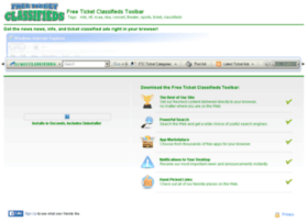 freeticketclassifieds.communitytoolbars.com