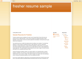 fresher-resume-sample.blogspot.com