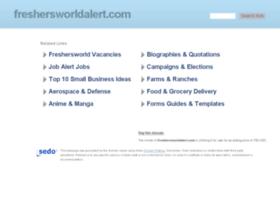 freshersworldalert.com