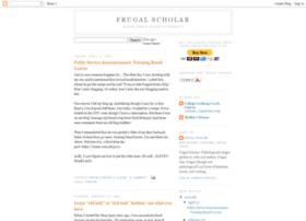 frugalscholar.blogspot.com