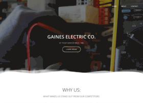 gaineselectriccompany.com
