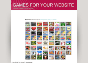 gamesforyourwebsite.com