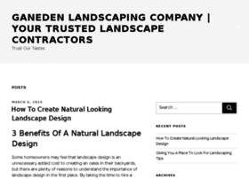 ganedenlandscaping.com