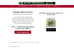 garagesalesource.com