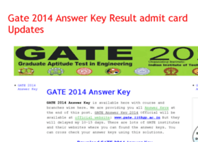 gate2014answerkeyresult.org