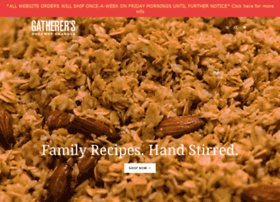 gatherersgranola.com