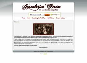 genealogistsforum.co.uk