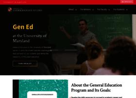 gened.umd.edu