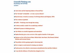 generallythinking.com