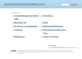 generateuniquecontent.com