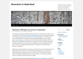 generatorshyderabad.wordpress.com