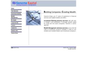 genomecapital.com