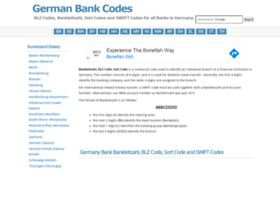 germanbankcodes.com