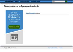 gesetzeskunde.de