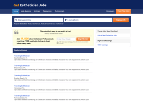 getestheticianjobs.com