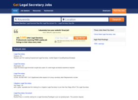 getlegalsecretaryjobs.com