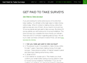 gettingpaidtotakesurveys.com