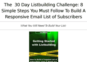 gettingstartedwithlistbuilding.com