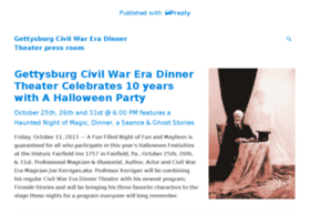 gettysburg-civil-war-era-dinner-theater.prezly.com