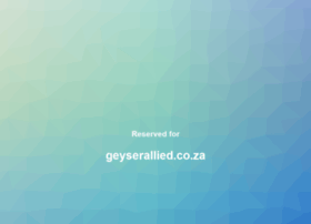 geyserallied.co.za