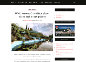 GhostTownsCanada.ca - A Photo Gallery Of Ghost Towns In Canada - Ghost