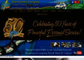 gileselectriccompany.com