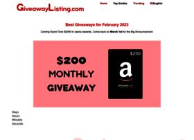 giveawaylisting.com